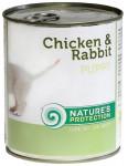Nature's Protection Dog konz.Puppy kuře/králík 400 g