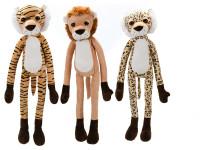 Zvířátko safari plyšové 85 cm dlouhé ruce a nohy - mix variant či barev