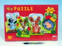 Puzzle Krtek a kamarádi 13x19cm 4x12 dílků
