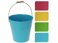 kvetináč dekoračné 24x23cm plech - mix farieb