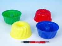 Formičky Bábovky guľatá plast 12x7cm 12m + - mix farieb