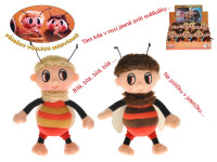 Príbehy včelích medvedíkov - Čmelda a Brumda plyšoví 15 cm na batérie s pesničkami