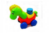 Koník na kolečkách pískací plast 17cm v sáčku 12m+ - mix variant či barev