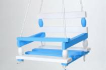 Hojdačka drevo bielo modrá 38x30cm nosnosť 80kg