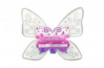 Krídla motýlie nylon 49x43cm v sáčku karneval