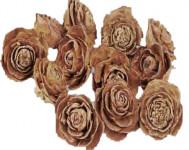 Dekorácie - Cedar rose 3-5 cm 6 ks