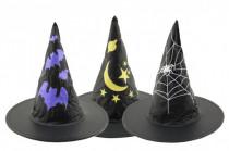 Klobouk čarodějnický průměr 36cm karneval - mix barev