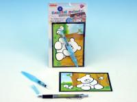 Kouzelné malování vodou na kartě 11x21cm - mix variant či barev