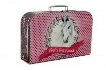 Kufrík kôň ružový 35 cm
