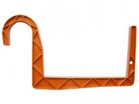 Držiak na truhlík balkón - S rúrka terakota 12 cm