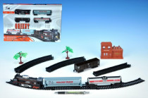 Orient Vlak + 3 vagóny délka dráhy 280cm na baterie se světlem