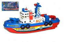 Loď/člun záchranářská plast 28cm na baterie