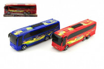 Autobus plast 25cm na zotrvačník - mix farieb