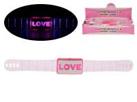 Náramek 21 cm na baterie svítící - mix variant či barev
