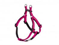 Postroj nylon soft Grip - tmavo ružový Nobby 1,0 x 30-40 cm
