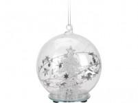 dekorácie LED GUĽA anjel / stromček pr. 8cm sklo - mix variantov či farieb