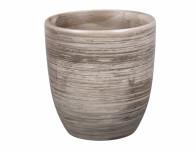 Obal na kvetináč KODET GREY keramický šedý matný d13x14cm