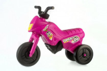 Odrážedlo Enduro Yupee růžové malé plast výška sedadla 26cm nosnost do 25kg 12m+