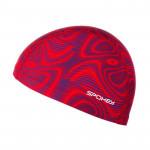 Spokey TRACE Plavecká čepice nylon červená