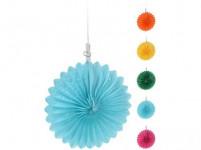 dekorácie závesná PÁRTY 15cm papierová (5ks) - mix farieb