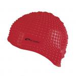 Spokey Belbin plavecká čiapka bublinková červená
