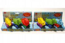 Dinosaurus na kolečkách gumový 3ks na kartě 12m+ - mix variant či barev