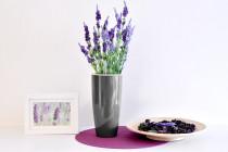 Vypestuj si levanduľu, tmavo strieborný kvetináč, GreenSun