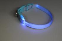 Obojok nylon svietiace s plast. dutinkou modrý B & F 1,50 x 38-48 cm