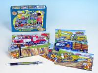 Kostky kubus Dopravní prostředky dřevo