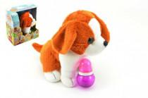 Pes štěňátko interaktivní se zvukem plyš 23cm