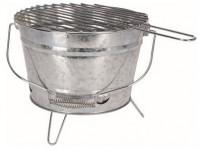 gril BBQ vedro pr.27,5cm, výška 19cm, pozink