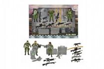 Sada vojenská vojaci s doplnkami plast