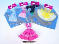 Šaty/Oblečky krátké na panenky v sáčku 22x30cm - mix variant či barev