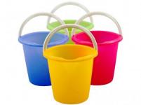 vedro 10l s výlevkou plastové - mix farieb