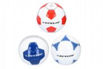 Lopta futbalový Dunlop šitá - mix farieb