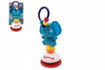 Elephant rattle with plastic suction cup 21cm on the card in a 3m + bag - VÝPREDAJ