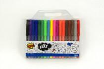 Fixky farebné 18ks v plastovom vrecku 20x18cm