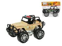 Jeep vojenský 27 cm na zotrvačník - mix farieb