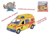 Auto ambulance 13 cm kov zpětný chod na baterie česky mluvící se světlem