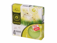 Sviečka čajová Citronella MAXI vonná 4ks