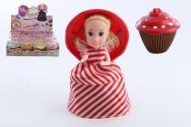 Bábika / Cupcake plast 15cm voňajúce v krabičke 4. séria - mix variantov či farieb
