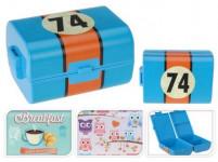 box desiatový 12x10x15,5cm s klick uz. plastový - mix variantov či farieb