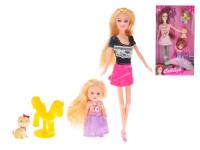 Bábika kĺbová 29 cm s dieťaťom a doplnky - mix variantov či farieb