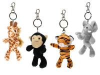 Prívesok na kľúče zvieratko safari 12-13 cm plyšové - mix variantov či farieb