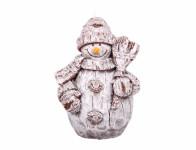Sviečka Vianočné snehuliak 14cm
