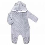 Dojčenský overal z Minky Nicol Bubbles šedý - 62 (3-6m) - VÝPREDAJ