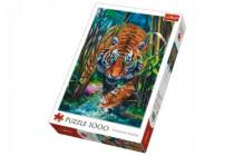 Puzzle Dravý Tiger 1000 dielikov 48x68cm