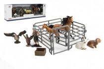 Sada farma plast zvířátka s doplňky 4 druhy
