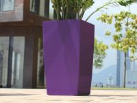 Samozavlažovací kvetináč GreenSun ICES 12x12 cm, výška 23 cm, fialový
