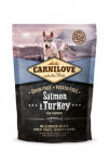 Carnilove Dog Salmon & Turkey for Puppies NEW 1,5kg